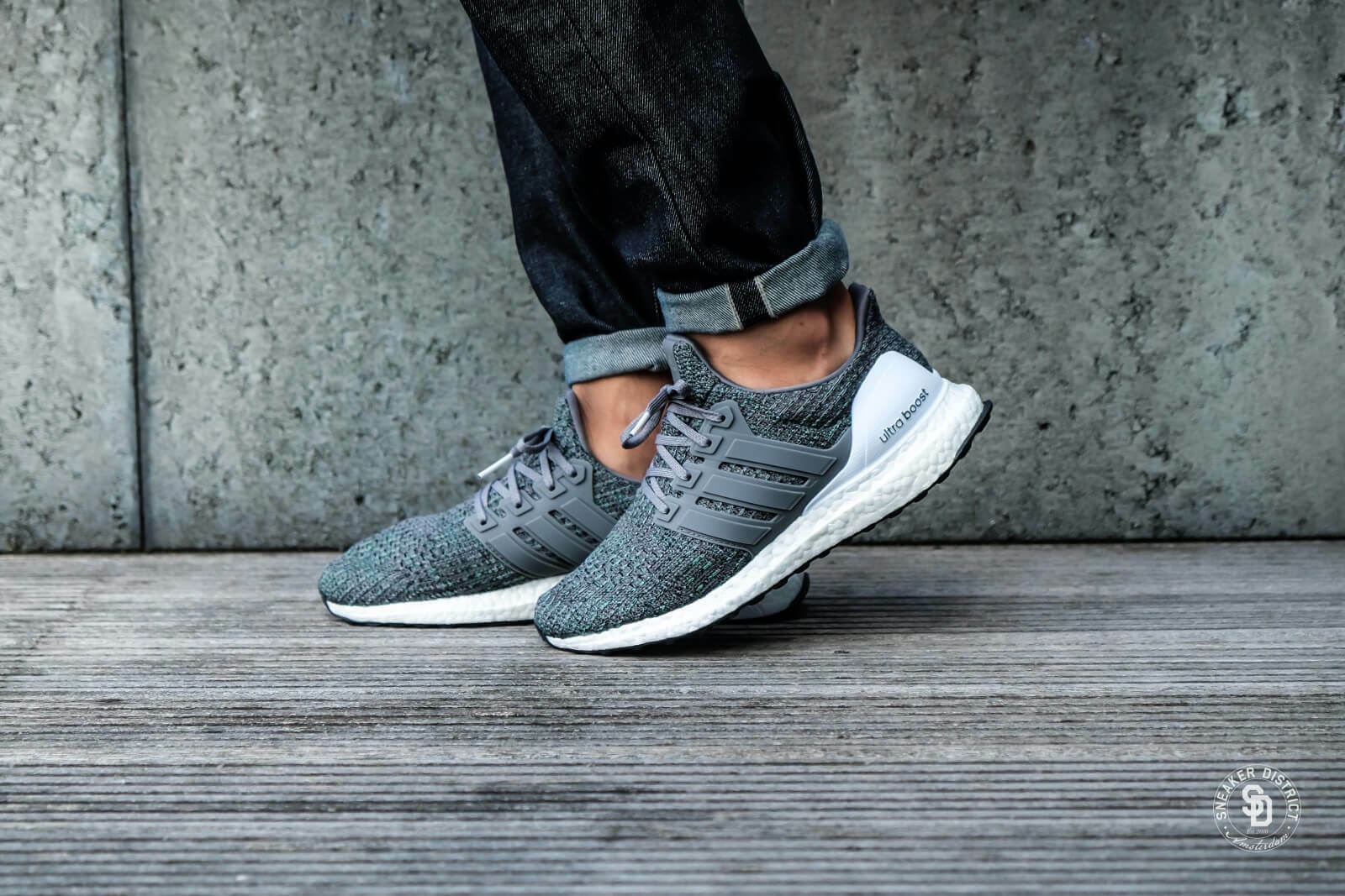 Adidas Ultra Boost Grey Four Grey Four Hi-Res Green  UK 9