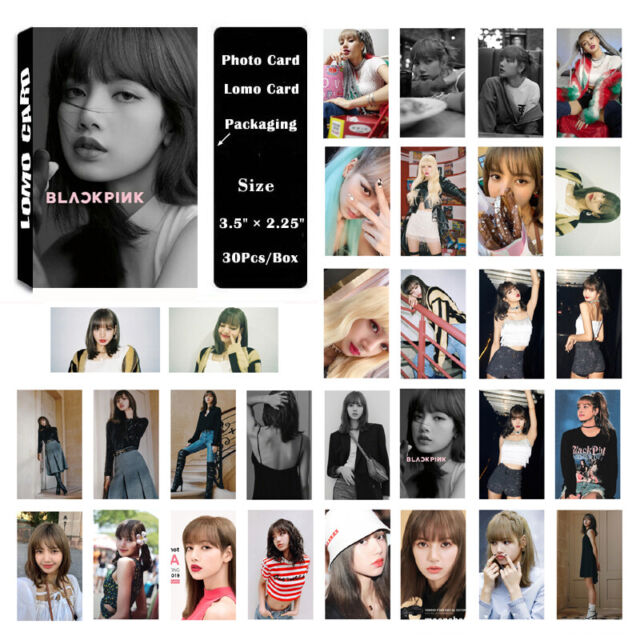 1Box/30PCS KPOP BLACKPINK LISA Album PhotoCard Lomo Card Poster Photo card