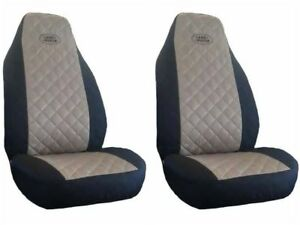 Front-Seat-Covers-for-Land-Rover-Freelander-Discovery-Defender-BLACK-AND-BEIGE