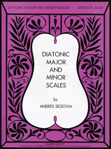 Diatonic Major /& Minor Scales Segovia Andrés guitar