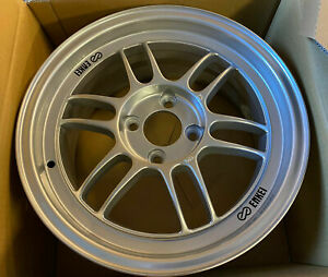 "4 x Silver Enkei RPF1 lightweight Alloy Wheels 15x7"" ET35 4x100 MX5 Honda 4.4kg"