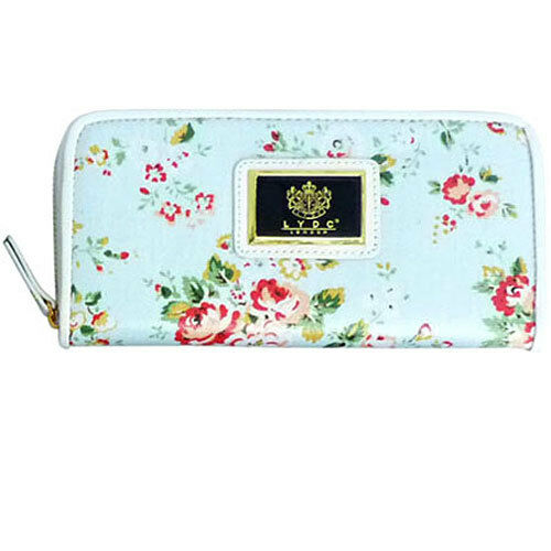 LYDC Flower Print Purse Wallet L059 MORE COLOURS AVAILABLE