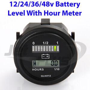 Details about 12 24 36 V Volt Marine Engine Hour Meter & LED Battery  Indicator 2