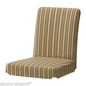 """IKEA HENRIKSDAL Slipcover Chair Cover 21"""" Linghem Light Brown Striped 501.876.70"""