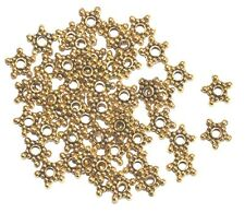 50 Spacer Perlen Stern 9 mm Metall gold Metallperlen Beads Zwischenteile NEU