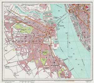 Birkenhead Liverpool 1928 Series Sheet 16 Large Map Reprint eBay