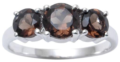 925 Pure Silver Smoky Topaz Gemstone Ring Amazing Indian Women Fashion Jewelry