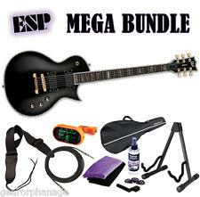 ESP LTD EC-1000 Deluxe Series Black BLK *NEW* EC1000 EC-1000 EMG - MEGA BUNDLE 1