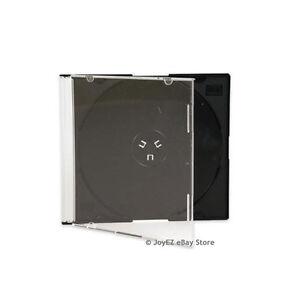 100-Slim-5-2mm-Single-Black-CD-Disc-Storage-Jewel-Case