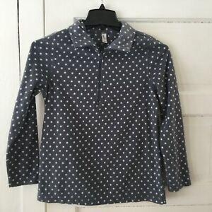 82b166a1d4b0e Details about Exertek Women's Fleece Pullover Jacket Size S Gray & White Polka  Dot 1/4 Zip