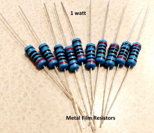 2 Ohm 1 Watt 1W 10 Pieces 5/% Tolerance Metal Oxide Film Resistor