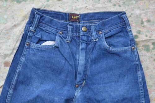 Vintage 1940's Lee denim jeans, crotch rivet, leat