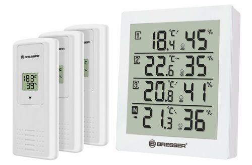 Thermo BRESSER Temeo Hygro Quadro und Hygrometer mit 4 unabhängige Messdaten