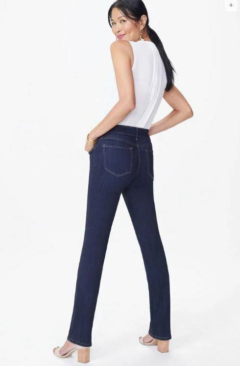 NYDJ Jeans Marilyn Straight Leg Mabel Sure Stretch Denim Size 0  NWT