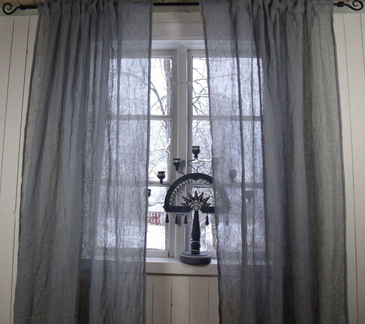 Sipario Lia GRIGIO tendine SCIARPA 2 x 130x280 Crincle sgualciti Loft Style poliestere