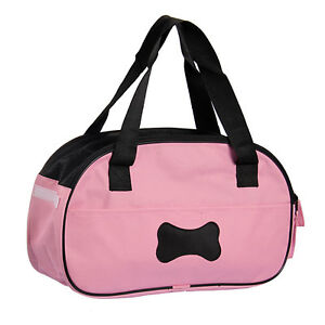 Portable-Puppy-Cat-Dog-Tote-Carrier-House-Kennel-Pet-Cage-Travel-soft-Bag-Pink