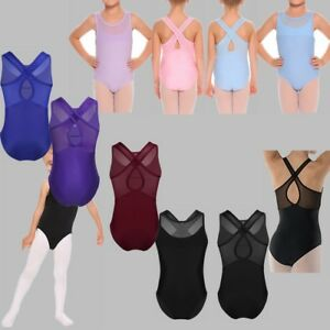 Children-Kid-Girl-Dance-Leotard-Gymnastics-Bodysuit-Tutu-Ballet-Training-Dress