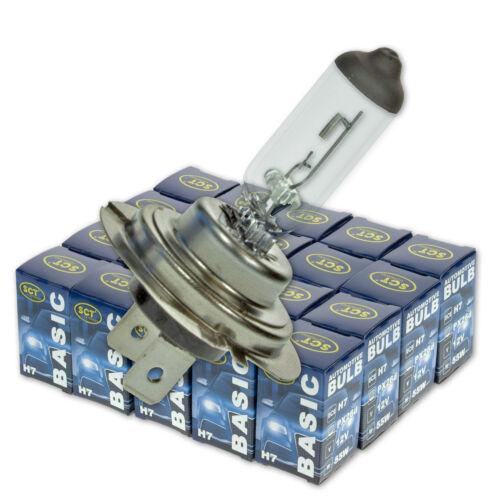 55W 20 Stk SCT Glühlampe 12V PX26d Fernscheinwerfer Basic H7