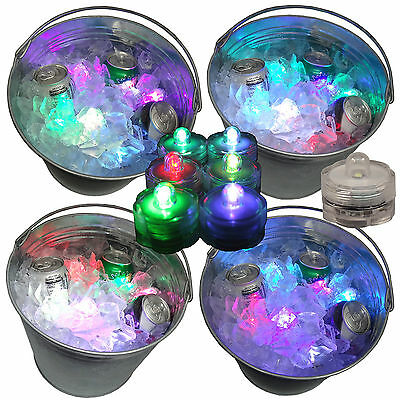 New Year's Eve Party Beer Ice Bucket Lights Submersible 36 Multi Color Changing