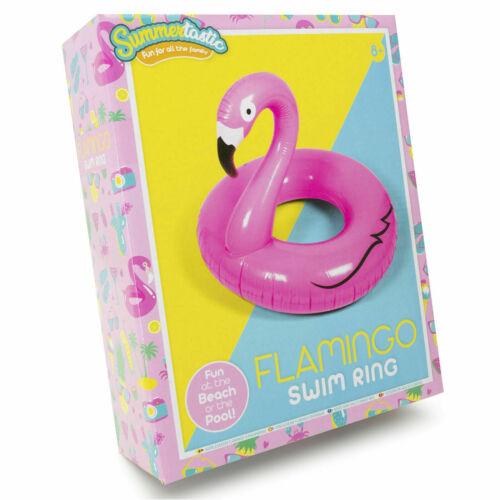 Groß Aufblasbar Pink Flamingo Schwimmreifen Schwimmen Pool Lilo Liege 050355