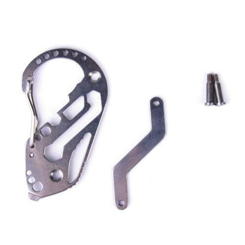 EDC Stainless Multi Tools Keychain Screwdriver Wrench Carabiner Pocket ToolMAEK