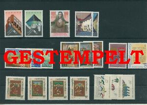 Liechtenstein-Vintage-Yearset-1987-Timbres-Used-Complet-Plus-Sh-Boutique