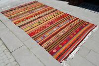 """Anatolia Turkish Kilim 67"""" x 119"""" Hand Woven Wool Vintage Jajim Rug 170 x 303 cm"""