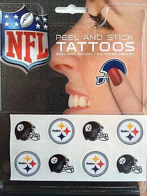 NFL Football 8-Pc Tattoo Set - Pick Team