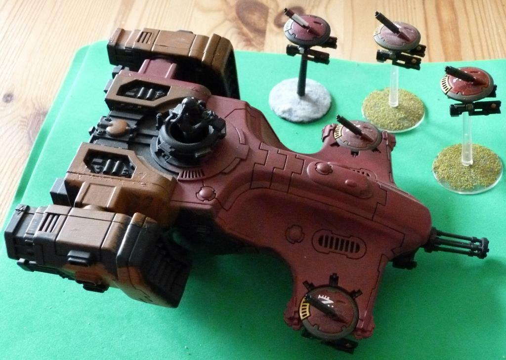 Games Workshop Painted Tau Hammerhead Gunship With Cannon And Drones