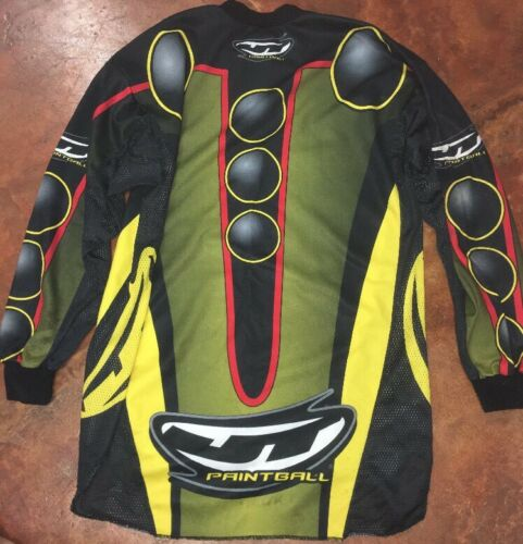 Men's JT RACING paintball jersey small rare multi color big logo long sleeve