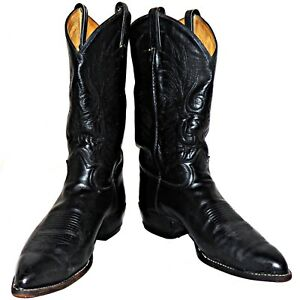 f3f9c09ce5f Details about Tony Lama Black Label Western Cowboy Boots Calfskin Leather  6711 10-1/2 E Wide