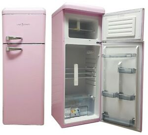 retro k hlschrank pink a k hl gefrierkombination sl210 five5cents wow neu ebay. Black Bedroom Furniture Sets. Home Design Ideas