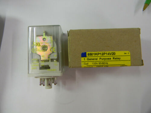 New Square D 8501KP12P14V20 General Purpose Relay DPDT 10 A  P4
