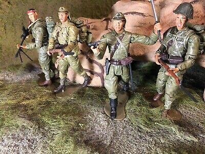1 18 Japanese Imperial Army Banzai Charge Four Figure Lot 21st Century Toys Ebay