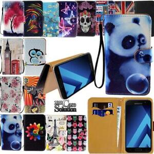 Flip-Leather-Wallet-Card-Stand-Cover-Phone-Case-For-Samsung-Galaxy-Strap