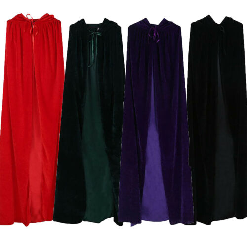 Velvet Hood Cloak Cape Witchcraft Vampire Wizard Chriatmas Party Cosplay Costume