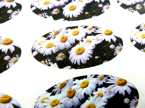Bags Daisy Flower Oval Seal Labels Envelopes Stickers for Gift Wrap Cards