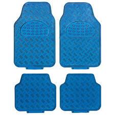 Car Floor Mats Carbon Fiber 4 Piece Metallic Aluminum Universal Fit Fits 2012 Toyota Camry