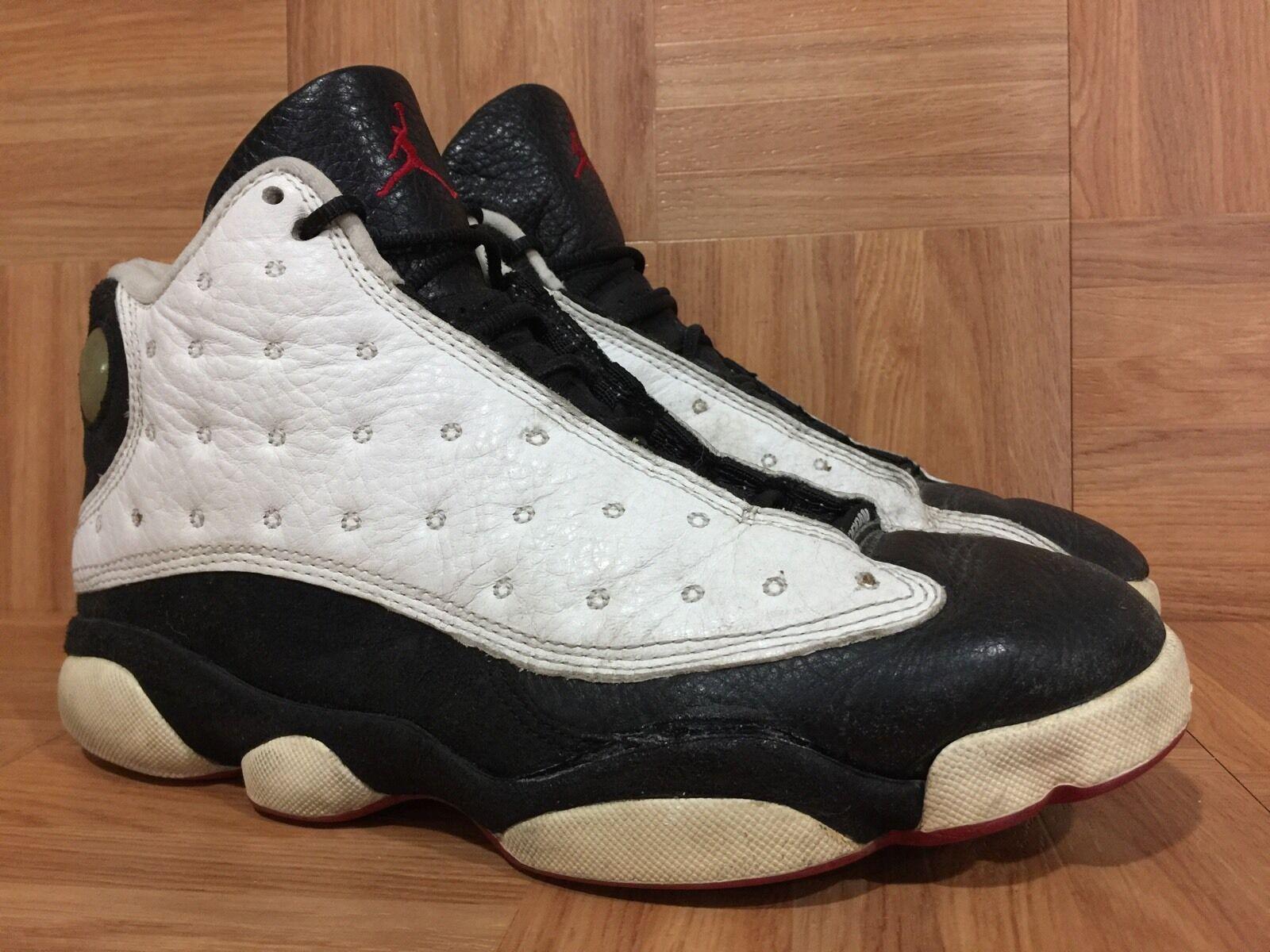 VTG Nike Air Jordan 13 XIII OG '97 He Got Game White Red Black 8.5 136002-132