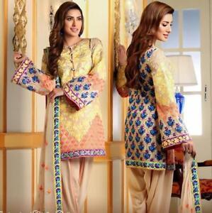 Pakistani Women Lawn Dress Indian Fashion Designer Multiple Design Stitched 3pc Ebay