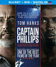 Captain Phillips (Blu-ray/DVD, Mastered in 4K, 2014, 2-Disc)Brand New