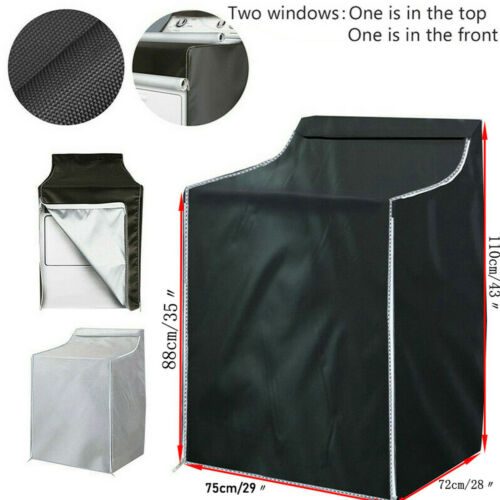 Washing Machine Protect Cover Laundry Dryer Cover Dustproof Waterproof Sunscreen