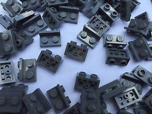 LEGO-99780-NUEVO-GRIS-OSCURO-angulo-1x2-Barra-Up-Placa-10-O-25-Piezas