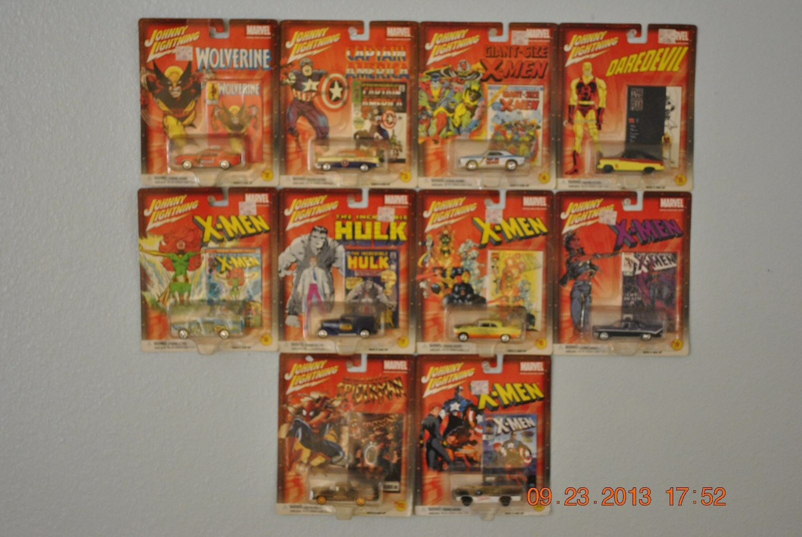 Johnny Lightning Marvel Comics moulages