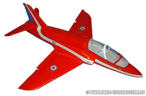 rot Arrow Bae Hawk GFK  Spannweite 1400mm  | Vorzüglich