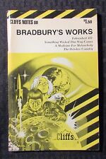 1977 Cliff Notes on BRADBURY'S WORKS FVF 7.0  Fahrenheit Wicked Medicine October