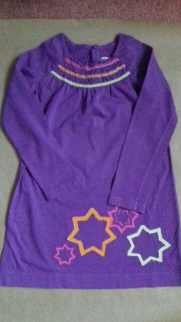 Girl's purple long sleeve dress Age 7 John Lewis girl