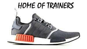 check out e8e29 7445e Image is loading Adidas-NMD-Runner-R1-Grey-Red-Men-039-