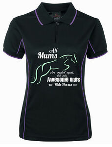 HEELS-DOWN-CLOTHING-LADIES-COOLDRI-034-AWESOME-MUM-034-POLO-ALL-SIZES-AVAIL