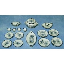 18 Piece Lotus Dinner Set, Dolls House Miniatures Kitchen Accessory 1.12th Scale